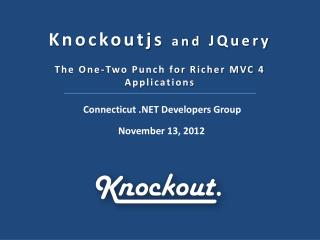 Knockoutjs and JQuery