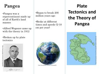 Plate Tectonics and the Theory of Pangea