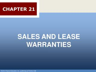 SALES AND LEASE WARRANTIES