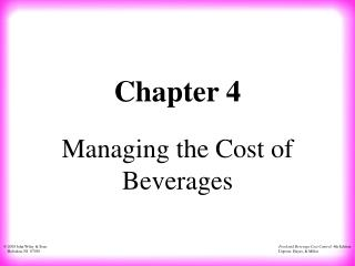 Managing the Cost of Beverages