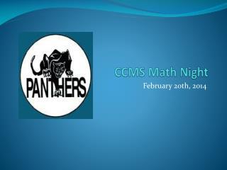 CCMS Math Night