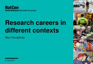 Research careers in different contexts