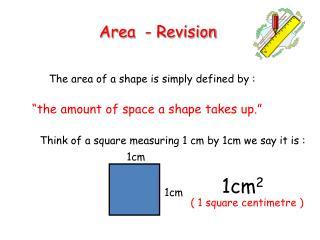 Area - Revision