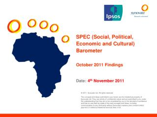 SPEC (Social, Political, Economic and Cultural) Barometer October 2011 Findings