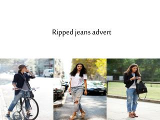 Ripped jeans advert
