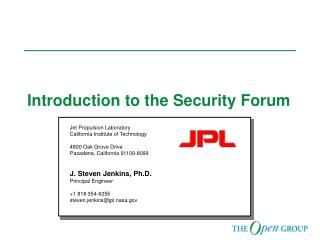 Introduction to the Security Forum