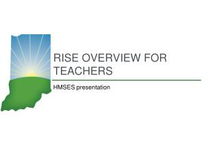 Rise overview for teachers