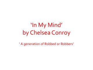 'In My Mind' by Chelsea Conroy