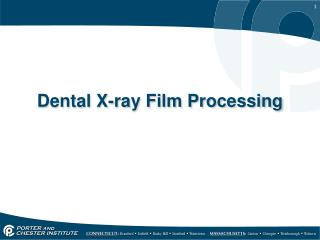 Dental X-ray Film Processing