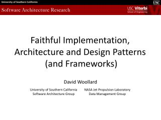 Architecture, Design Patterns and Faithful Implementation