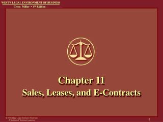 Chapter 11 Sales, Leases, and E-Contracts