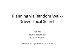 Planning via Random Walk-Driven Local Search