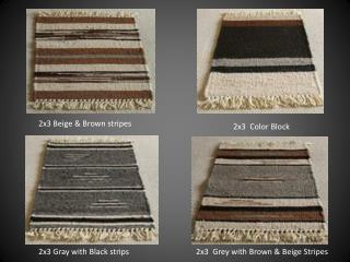 2x3 B e ige & Brown stripes