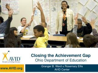 Closing the Achievement Gap Ohio Department of Education