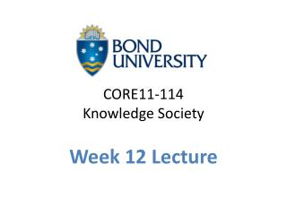 CORE11-114  Knowledge Society