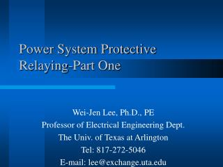 Power System Protective Relaying-Part One