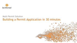 Multi Permit Solution Building a Permit Application in 30 minutes
