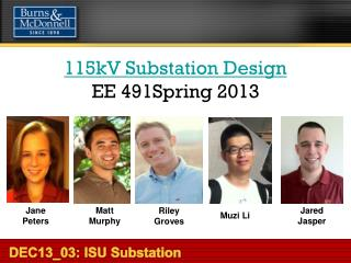 115kV Substation Design EE 491Spring 2013