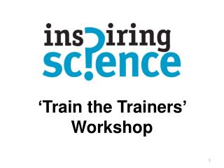 'Train the Trainers' Workshop
