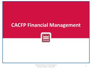 CACFP Financial  Management