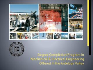 Degree Completion Program in  Mechanical & Electrical Engineering Offered in the Antelope Valley