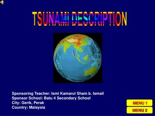 TSUNAMI DESCRIPTION