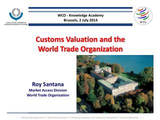 Customs Valuation and the  World Trade Organization