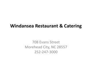Windansea  Restaurant & Catering