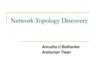 Network Topology Discovery