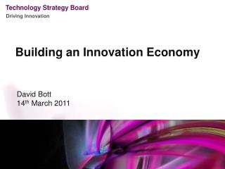 Building an Innovation Economy