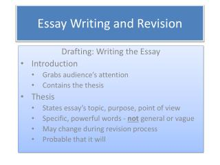 Essay Writing and Revision