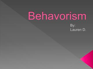 Behavorism