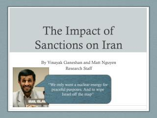 The Impact of Sanctions on Iran