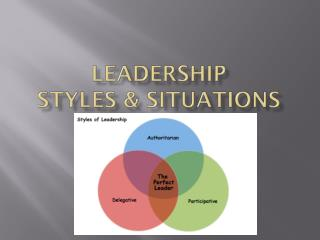 Leadership  Styles & Situations