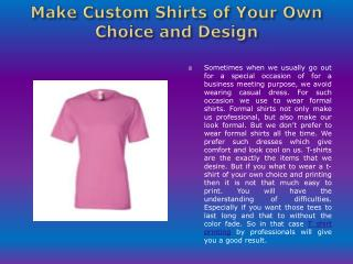 Design Custom Shirts