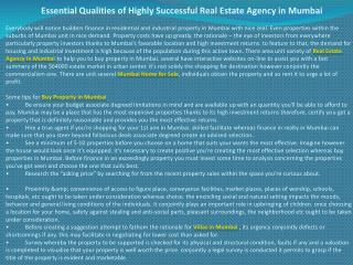 Essential Qualities of Highly Successful Real Estate Agency