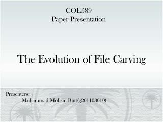 The Evolution of File Carving
