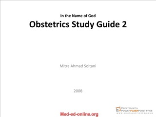 In the Name of God Obstetrics Study Guide 2
