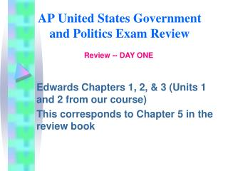 AP United States Government and Politics Exam Review