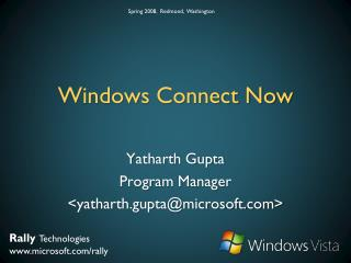 Windows Connect Now