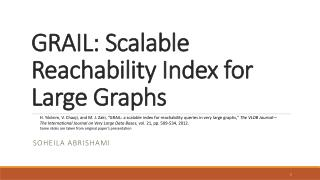 GRAIL: Scalable Reachability Index for Large Graphs