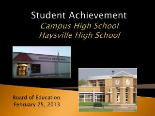 Student Achievement Campus High School Haysville High School