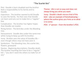 what is the plot of the scarlet ibis