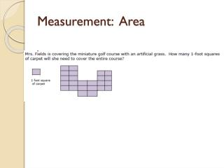 Measurement:  Area
