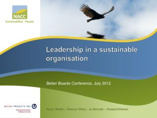 Leadership in a sustainable organisation