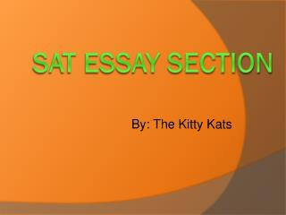 SAT essay section