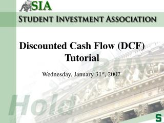 Discounted Cash Flow (DCF) Tutorial
