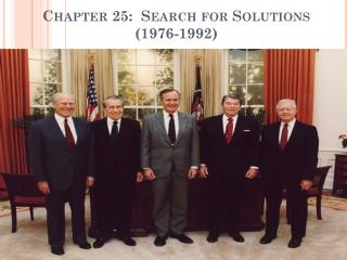Chapter 25:  Search for Solutions (1976-1992)