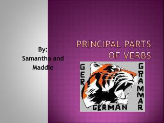 Principal Parts of Verbs