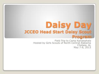 Daisy Day JCCEO Head Start Daisy Scout Program